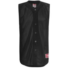 Rawlings Turn Two Baseball Jersey - Sleeveless (For Men) in Black - Closeouts