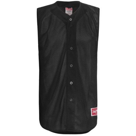 Rawlings Turn Two Baseball Jersey - Sleeveless (For Men) in Black