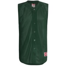 Rawlings Turn Two Baseball Jersey - Sleeveless (For Men) in Dark Green - Closeouts