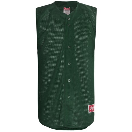 Rawlings Turn Two Baseball Jersey - Sleeveless (For Men) in White