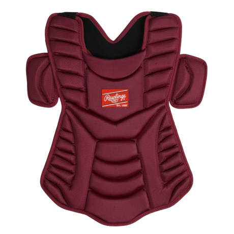 "Rawlings Workhorse 17"" Chest Protector (For Men and Women) in Cardinal"