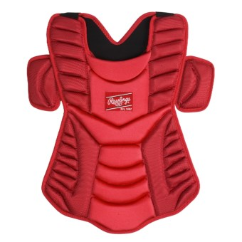 "Rawlings Workhorse 17"" Chest Protector (For Men and Women) in Scarlet"