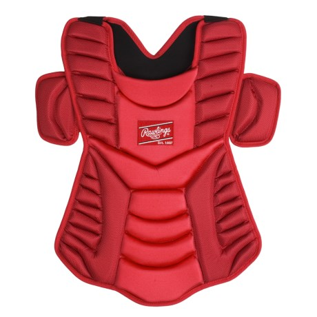 "Rawlings Workhorse 17"" Chest Protector (For Men and Women) in Maroon"
