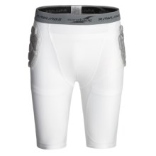 Rawlings Zoombang Compression Padded Girdle Shorts (For Men) in White - Closeouts
