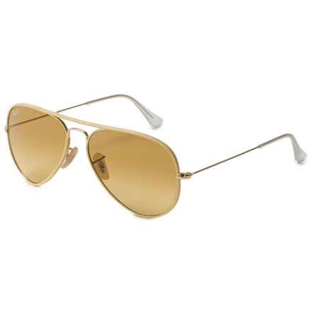 Ray-Ban Aviator Full-Color RB3025JM Sunglasses in Gold/Yellow - Closeouts