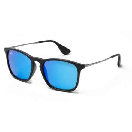 Ray-Ban Chris Wayfarer Sunglasses in Black/Blue - Overstock