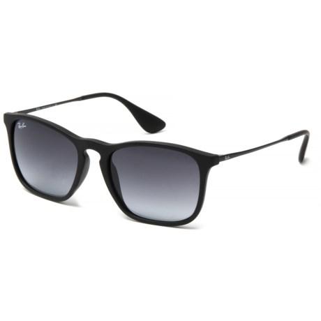 Ray-Ban Chris Wayfarer Sunglasses in Black/Gray