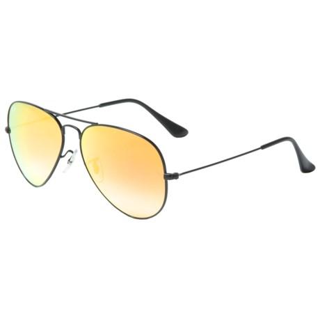 66341db495df2 Ray-Ban Classic Aviator Gradient Flash Sunglasses in Black Red Gradient