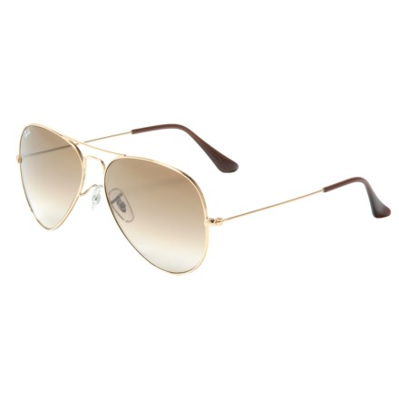 bcf8041d54 Ray-Ban Classic Aviator Gradient Sunglasses in Gold Brown Gradient