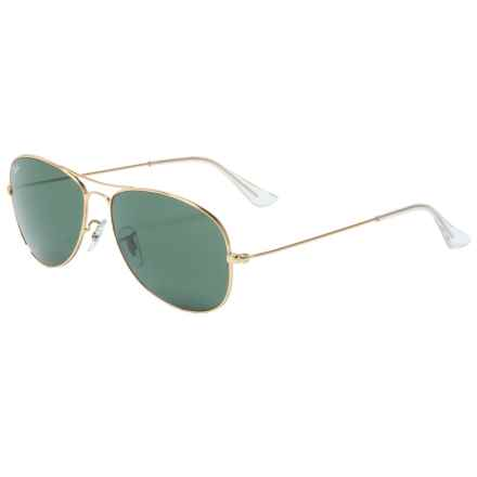 Ray-Ban Cockpit Aviator Sunglasses in Gold/Green