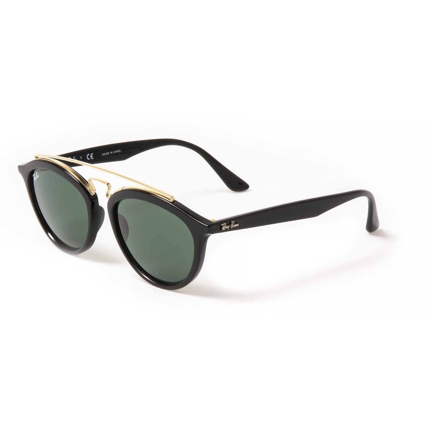 4b2bb203a086 Ray-Ban Injected Sunglasses (For Women) in Black/Dark Green ...