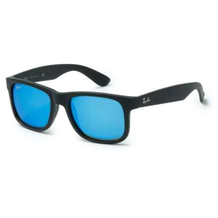 Ray-Ban Justin RB4165 Sunglasses in Black/Blue - Overstock