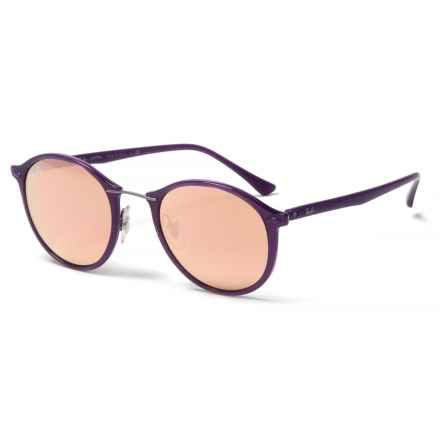 Ray-Ban Light Ray II RB4242 Sunglasses - Mirror Lenses in Shiny Violet/Copper - Closeouts