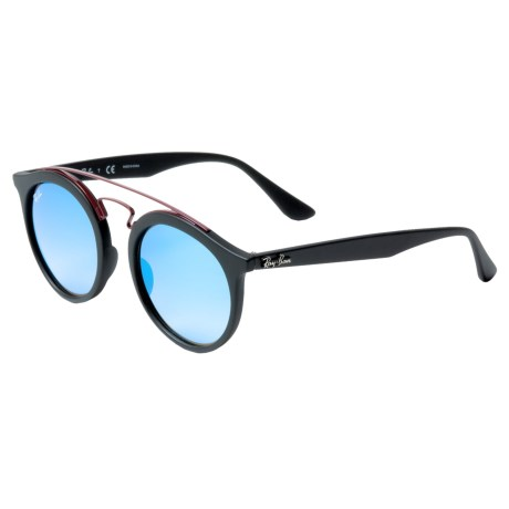 e7d982db92 Ray-Ban Matte Black Injected Mirror Sunglasses (For Men and Women) in Matte