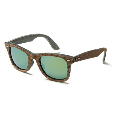 Ray-Ban Original Wayfarer Bicolor RB2140F Sunglasses in Osaka Brown/Jeans Grey/Green Mirror