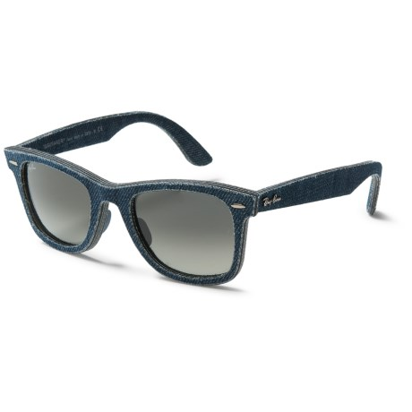 Ray-Ban Original Wayfarer Denim RB2140F Sunglasses in Blue Denim/Green Gradiant