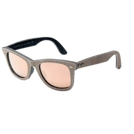 Ray-Ban Original Wayfarer RB2140F Sunglasses - Flash Lenses in Jeans Green Brown/Jeans/Copper Flash