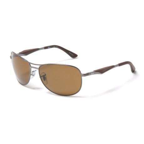 Ray-Ban RB 3519 Sunglasses - Polarized in Brown/Gunmetal