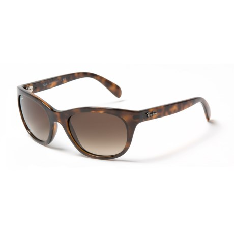Ray-Ban RB 4216 Sunglasses (For Women) in Brown Gradient/Light Havana
