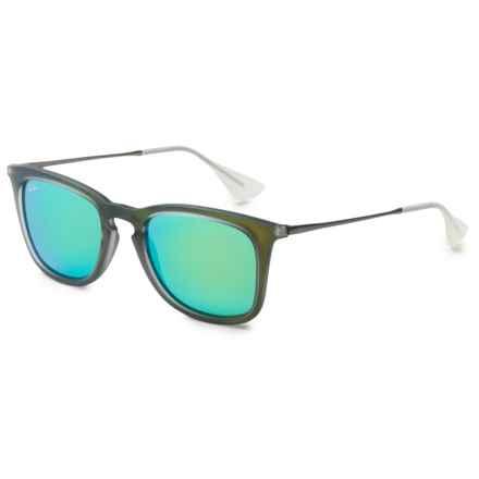 Ray-Ban RB 4221 Sunglasses in Green/Gunmetal Green Mirror - Overstock