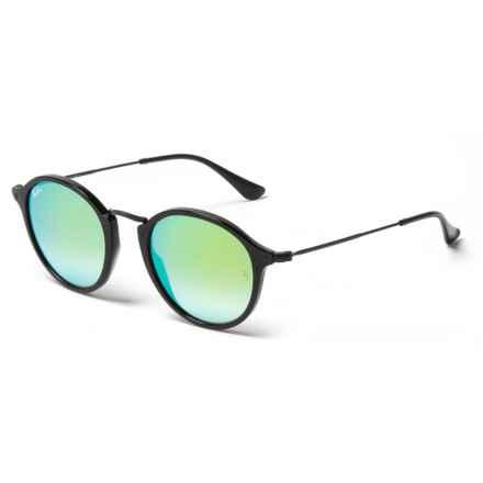 502b761d430 Ray-Ban RB2447 Round Fleck Pop Sunglasses in Green Shiny Black