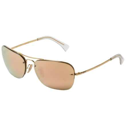 Ray-Ban RB3541 Metal Pilot Sunglasses in Gold/Rose - Closeouts