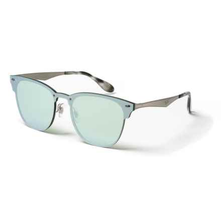 8f3fed2ad643 Ray-Ban RB3576N Clubmaster Sunglasses in Sand/Blue