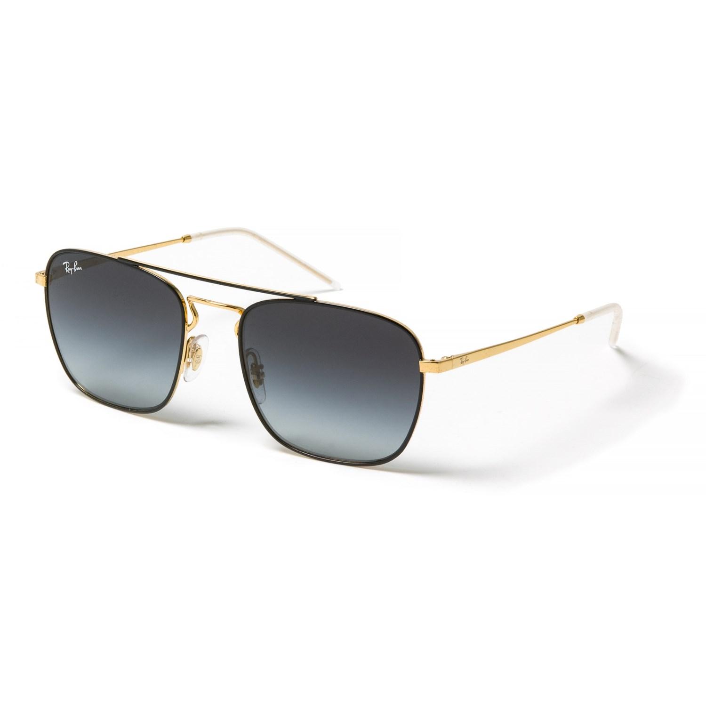 ed17cfa5fde Ray-Ban RB3588 Square Metal Pilot Sunglasses - Glass Lenses in Gold Black  ...