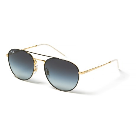 f06766543a85b Ray-Ban RB3589 Metal Round Aviator Sunglasses in Gold Black