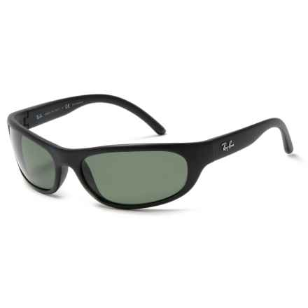 Ray-Ban RB4033 Sunglasses - Polarized in Green/Matte Black - Closeouts