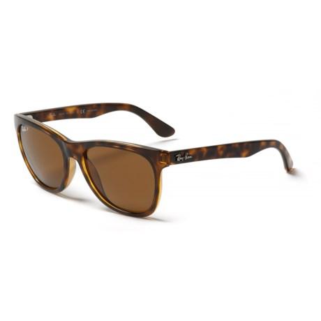 ff68e8df054 Ray-Ban RB4184 Wayfarer Sunglasses in Brown Light Havana