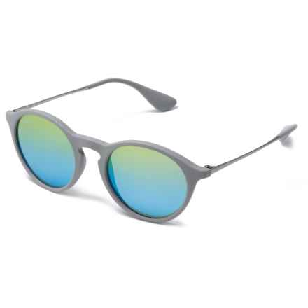 Ray-Ban RB4243 Sunglasses - Mirror Lenses in Green/Light Flash Blue/Rubber Grey - Closeouts