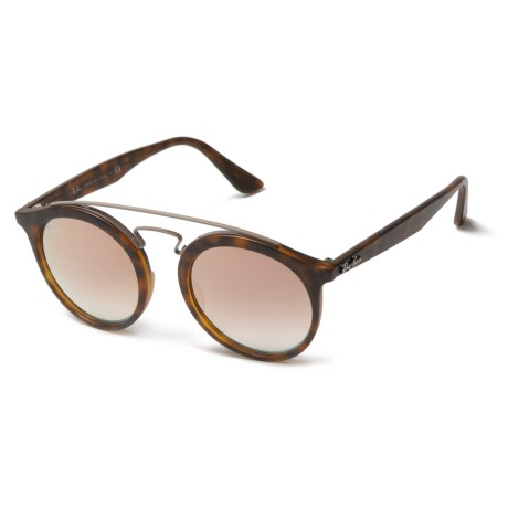 a105369a98f Ray-Ban RB4256 New Gatsby I Sunglasses in Mirror Gradient Copper Matte  Havana