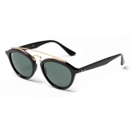 Ray-Ban RB4257 New Gatsby II  Sunglasses - Mirror Lenses in Dark Green/Black - Closeouts