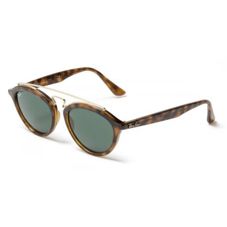 a65b01edc1 Ray-Ban RB4257 New Gatsby II Sunglasses - Mirror Lenses in Dark Green Havana
