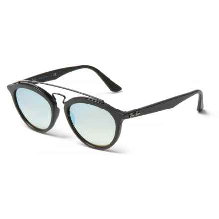 Ray-Ban RB4257 New Gatsby II  Sunglasses - Mirror Lenses in Grey Mirror/Matte Black - Closeouts