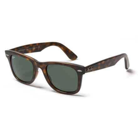Ray-Ban RB4340 Wayfarer Ease Sunglasses in Tortoise Havana/ Green - Closeouts