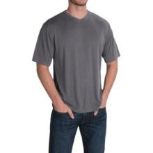 Rayon-Blend V-Neck Shirt - Short Sleeve (For Men) in Grey - 2nds