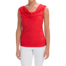 Rayon Cowl Neck Shirt - Sleeveless (For Women) in Red - 2nds