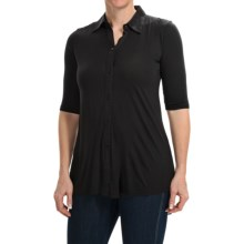 Rayon Knit Shirt - 3/4 Sleeve (For Women) in Black - 2nds