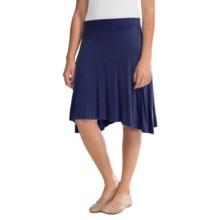 Rayon Sharkbite Skirt (For Women) in Navy - 2nds