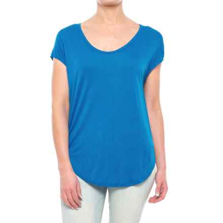 Rayon Shirt - Short Sleeve (For Women) in Blue - 2nds
