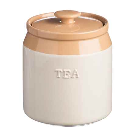 Rayware Group Cash Cane Collection Stoneware Tea Canister - 40.5 oz. in Buttercream - Overstock