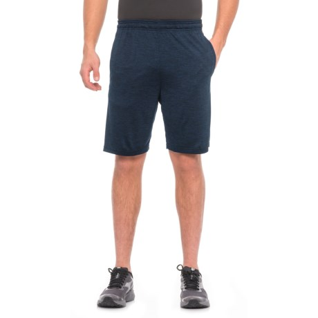 "RBX Active Double-Dye Striated Training Shorts - 9"" (For Men) in Navy/Black"