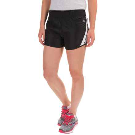 RBX Active Mesh Shorts - Built-in Brief (For Women) in Black - Closeouts