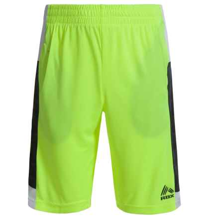 RBX Active Shorts (For Big Boys) in Neon Yellow - Closeouts