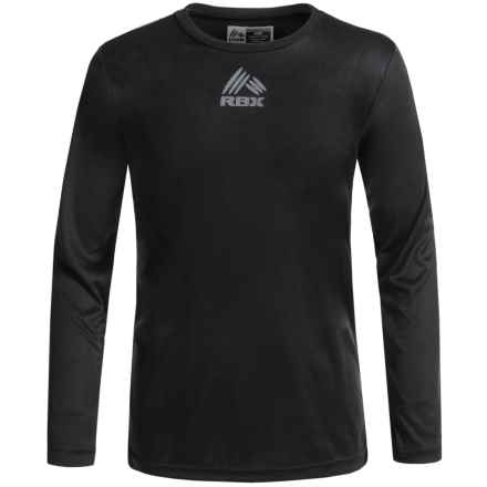 RBX Active T-Shirt - Crew Neck, Long Sleeve (For Big Boys) in Midnight - Closeouts