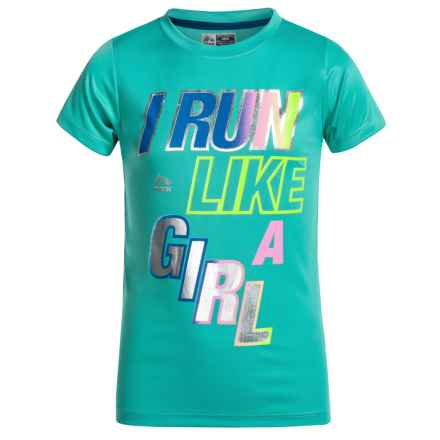 RBX Active T-Shirt - Short Sleeve (For Big Girls) in Jade Sprinkle - Closeouts