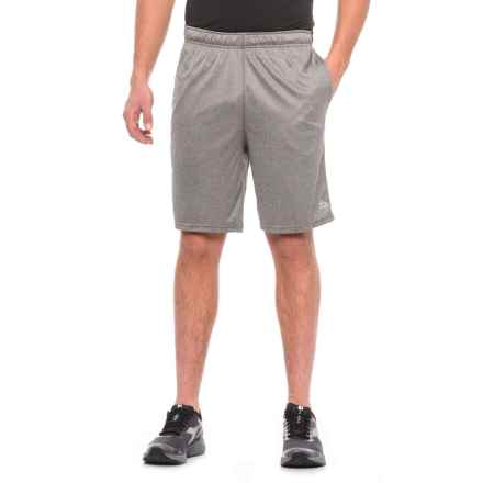 """RBX Active Training Shorts - 9"""" (For Men) in Grey Heather/Black - Closeouts"""