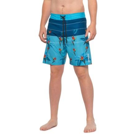 2b0c5c1c2d RBX Aquarius Bird of Paradise Stripe Boardshorts (For Men) in Aquarius